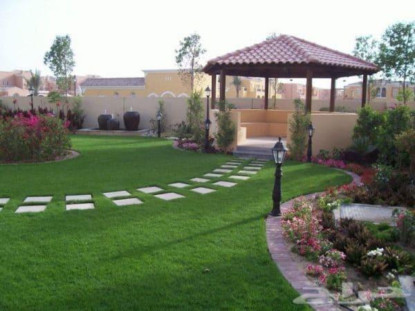 تنسيق حدائق حي العزيزية